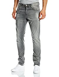 TOM TAILOR Denim Herren Slim Jeanshose Aedan Grey Stretch Denim/501