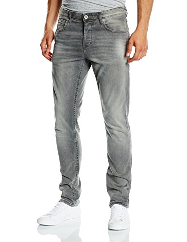 TOM TAILOR DENIM Herren Skinny Jeanshose AEDAN slim stretch, Gr. W36/L34 (Herstellergröße: 36), Grau (grey denim 1058)