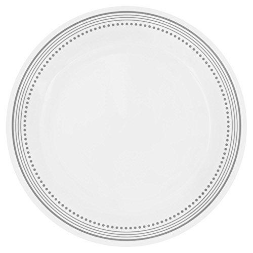 Corelle Livingware Mystic Gris Perle australienne Assiette Plate (Lot de 8) par Corelle coordonnées