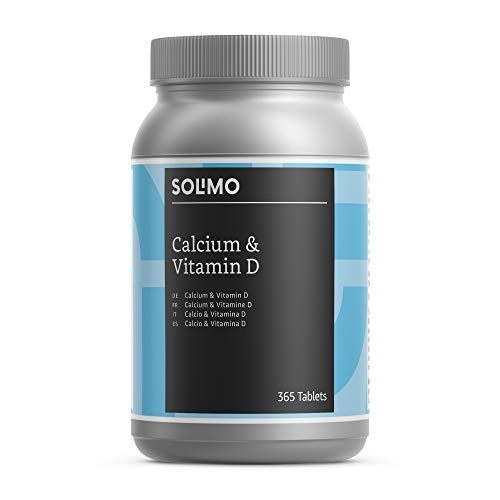 Marca Amazon - Solimo Complemento alimenticio a base de calcio y vitamina D, 365...