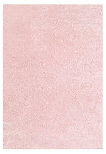 Livone Hochwertiger Jugendteppich Kinderteppich Baby Teppich Kinderzimmer Uni einfarbig in rosa Größe 120 x 170 cm