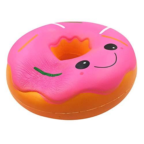 ALIKEEY Blandos ♈ Jumbo Gigante Donut Lento Levantamiento Fruta Perfumado Alivio De Estrés Juguete Regalo Sexual Gato Antiestres Giratorio Madera Animales