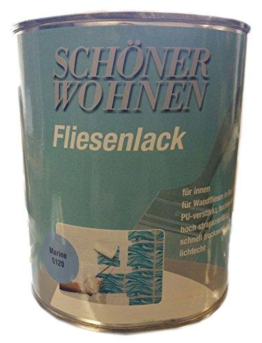 Schöner Wohnen Fliesenlack f. Fliesen in Küche, Bad u. WC, Farbton marine