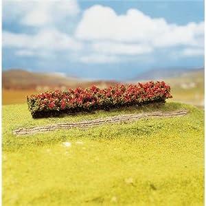 FALLER 181352  - 3 Hedges, de flores rojas importado de Alemania