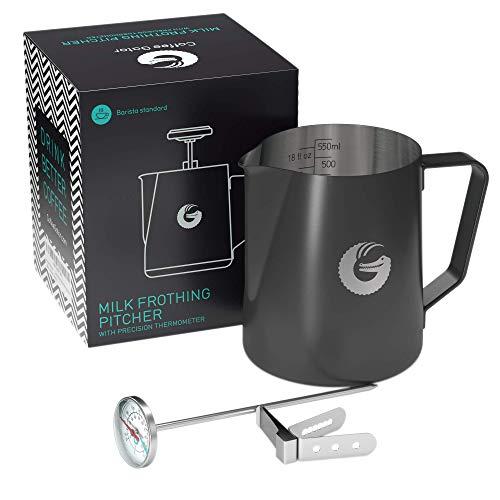 Coffee Gator Cappuccinatore montalatte Bollitore con termostato – 550 ml