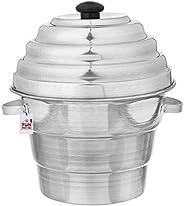 جهاز طهي المنيوم لوجبات ادلي من فن هومز مع 4 اطباق + 3 اطباق طهي بخاري (2 طبق دهوكولا+ 1 صينية واحدة من باترا)
