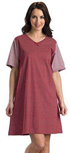 Ladies doux et confortable luxe chemise de nuit taille petit moyen grand XL Rayé rouge, tache blanche,