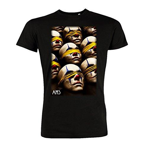 American Horror Story para hombre de la camiseta de algodón negro ciego Payasos Cult - M