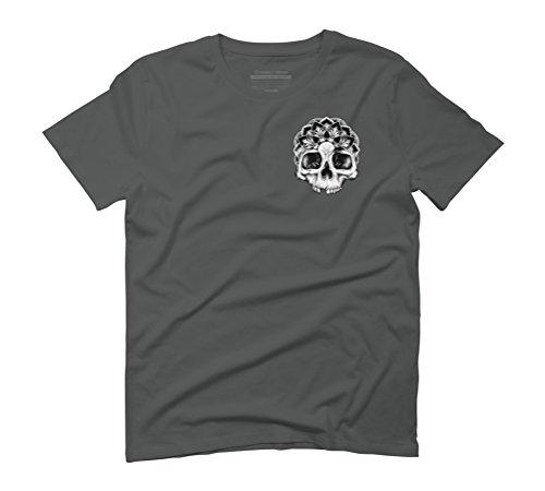 Mandala Skull Men's Graphic T-Shirt - Design By Humans Anthracite