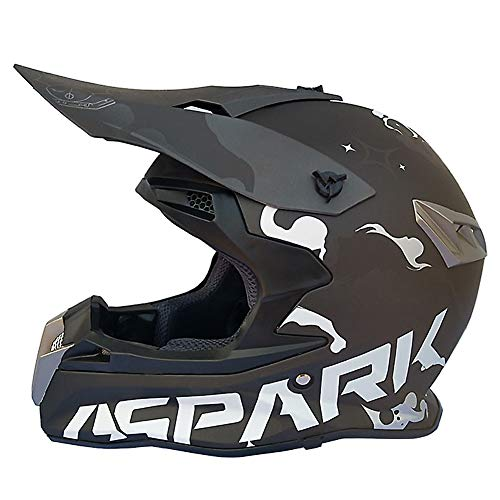 Adult Motocross Motorcycle Helmet Downhill Fullface Helmet - Mountain Bike BMX MTB Helmet ECE for Women Men Adult (S, M, L, XL, XXL) -
