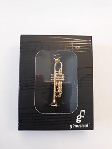 Schlüsselanhänger Trompete vergoldet/Versilbert Gold