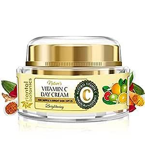 Oriental Botanics Nature's Vitamin C Face Brightening Day Cream Spf 25 - With Kakadu Plum - For Supple and Bright Skin, 50 g