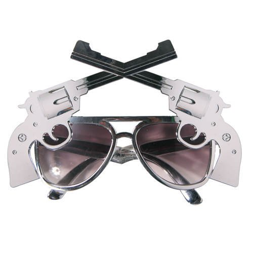 PARTY DISCOUNT Brille Cowboy Colt, silber