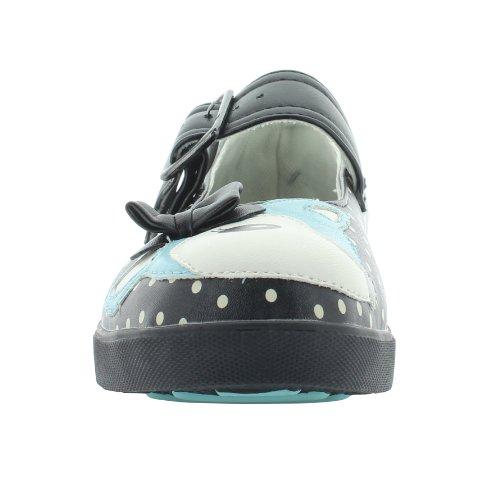 T.U.K. Mary Jane Sneaker DEER PLIMMIES A8293L noir-bleu noir-bleu