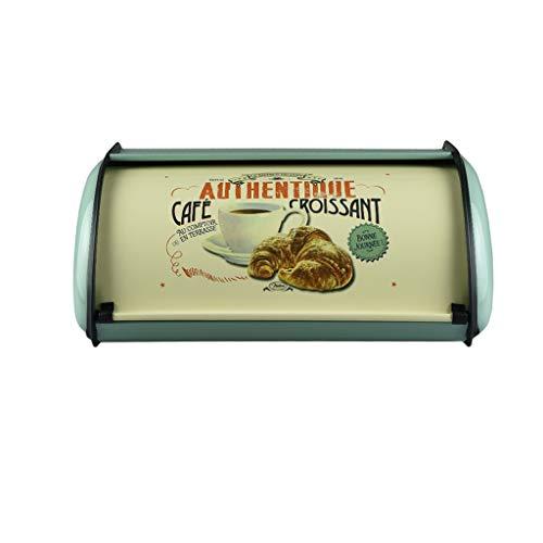 Französisch Vintage Blau Brot Box Lagerplatz Keeper Lebensmittel Küche Container Verzinktem Eisen Snack-boxen für Wohnkultur (Color : A) (Glas-brot-box)