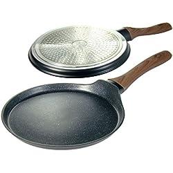 Top Qualité Poêle à frire pour crêpes 25cm avec un revêtement en granit et Frire Pad