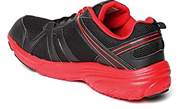 Lotto Men's Elevate Black and Red Mesh Running Shoes - 10 UK/India (44 EU)