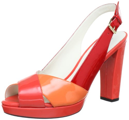 Geox - D Nouveau Egizia2 Sable A, Sandali Donna Rosso (rouge / Corail / Peach C0376)