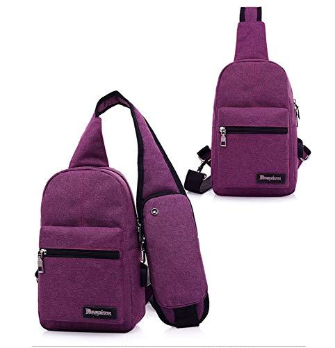GFLD Computer Tasche Brust Tasche Crossbody Tasche Mode vorne und hinten Dual-Use-Umwelt-, Stoff