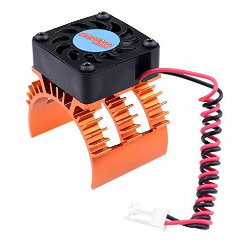 FLAMEER Blau Kühlkörper Motorkühlung Kühlerlüfter Zubehör für 1/10 RC Auto Motor 540/550 3650/3660 - Orange