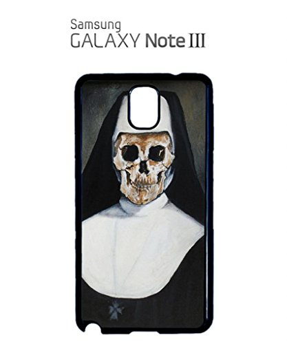 Skeleton Bad Nun Religion Sister Painting Artist Funny Hipster Swag Mobile Phone Case Back Cover Coque Housse Etui Noir Blanc pour for Samsung Note 3 White Blanc