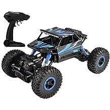 Popsugar Rock Crawler 1: 18 2.4GHz Remote Control Car 4WD Off Road RC Monster Truck Blue