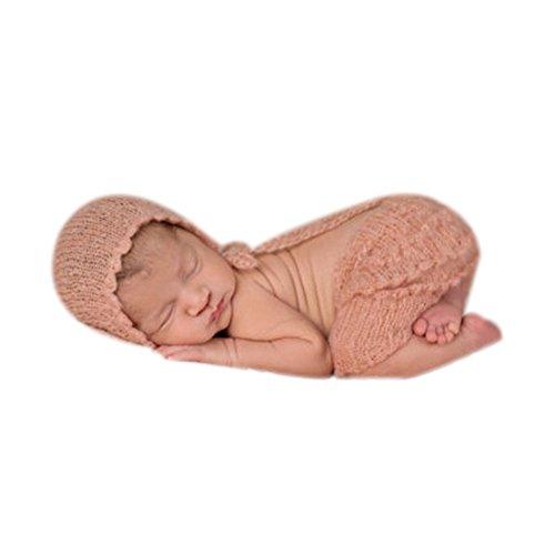 BINLUNNU Neugeborene Junge mädchen Handarbeit gehäkelte Baby kostüm -