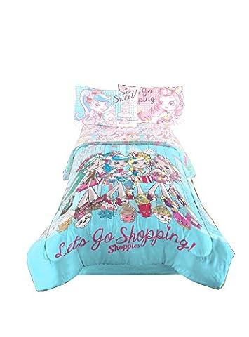 Shoppies NEUF Excellente conçu pour filles Twin/Full Parure de lit Doudou