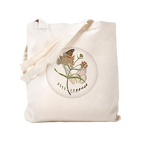 CafePress Monarch Schmetterling mit Schmalblatt, Tragetasche aus natürlichem Segeltuch -