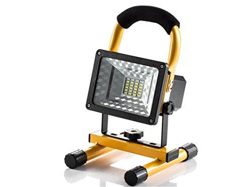 Projecteur LED Rechargeable 15W Portable Projecteur Rechargeable Super Floodlight 24LEDS Torche Eclairage Multifonctionel Lampe Chantier