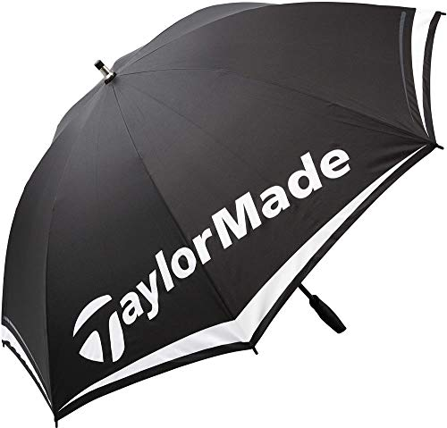 "TaylorMade 2017 TM 60"" Lightweight Single Canopy Mens Golf Umbrella Black/White"