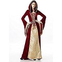 WLG Sudadera con Capucha de Halloween, Vestido Retro Europeo de la Corte, Reina de la Reina de la Reina de la Ropa de Lujo d Vestido de Fiesta Etapa,como se Muestra,XL