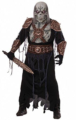 Deluxe Herren-Kostüm Ghoul Warrior mit Latex-Maske Gr. L/XL Halloween Horror Krieger (Krieger Kostüme Maske)