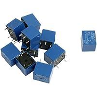 Relè di alimentazione SPST,10 Pezzi,DC 5V Bobina 7A 240VAC 10A 125VAC/28VDC 5 pin JQC-3F