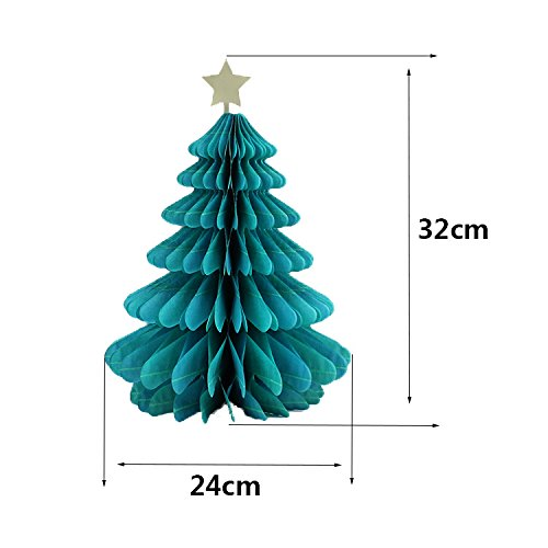 Bluelover Christmas DIY Decorations Tree Hat Snowman Comb Ball Party Weihnachts-Pendant & Drop-Ornamente Supplies - 2