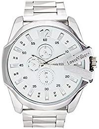 Louis Villiers Reloj Analogico para Unisex de Cuarzo con Correa en Acero Inoxidable LVAG8912-24