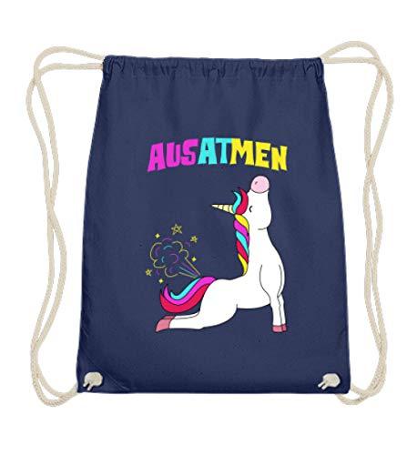 SwayShirt Einatmen Ausatmen Einhorn Yoga Unicorn Einhörner Regenbogen -