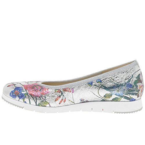 Metallico Silver Print Gabor Floreali Scarpe Linea Womens Flower wqqIXTgB