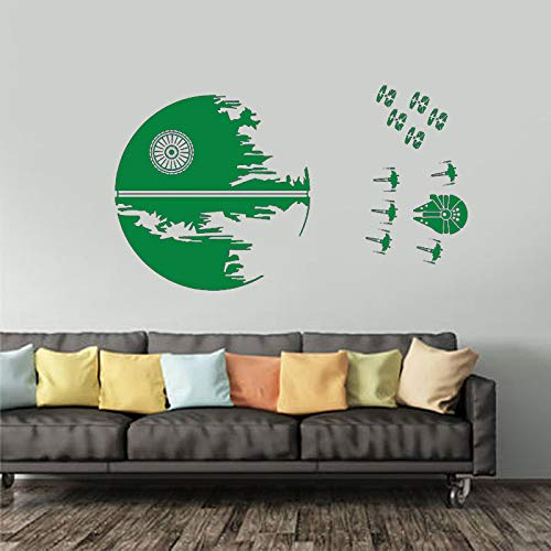 guijiumai Étoile de la Mort Sticker Endor Bataille X Wing Fighters Autocollant Battle Décor X Wing Fighters Modèle Teen Dorm Deco C 7 144X84 CM