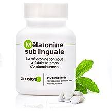 MELATONINA SUBLINGUAL | Pureza garantizada superior al 99% | 1.8 mg / 120 dosis | Estevia (Aroma de limón)| Regulador del reloj interno | Trastorno del ...