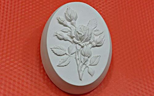 1pc Rose Blume Zweig Kunststoff-herstellen von Seife Wachs Schokolade Gips-Käse-Cookies, Gelatin Mold Casting-Nahrungsmittelgrad-Form 90x70x31mm -