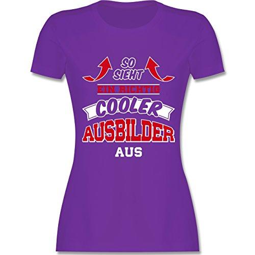 Shirtracer Sonstige Berufe - So Sieht ein Richtig Cooler Ausbilder Aus - Damen T-Shirt Rundhals Lila