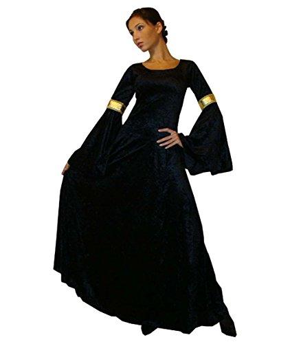 MAYLYNN 10923-XL - Mittelalter Kostüm Elbentraum, Größe XL, schwarz