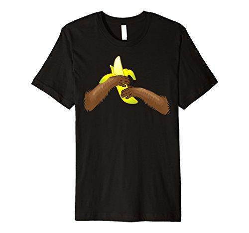 (Monkey Essen Banana Kostüm T-Shirt | Funny Halloween Geschenk)