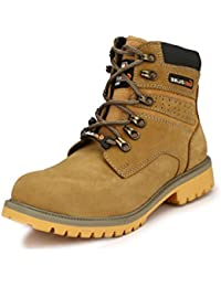 SHOE DAY MEN'S woodland tan leather boot