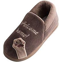 HCFKJ Zapatos Casual Moda De Los Hombres Invierno AlgodóN Caliente De Interior Antideslizante De La Historieta