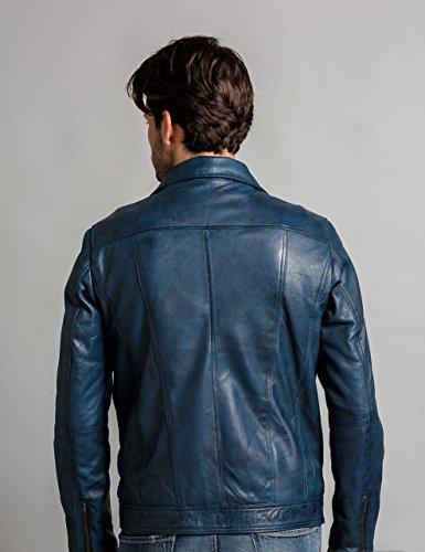 Urban-Leather-UR-335-Giacca-Calvin-da-Uomo-Ocean-Blu-Taglia-S
