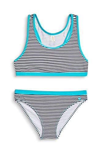 ESPRIT Mädchen Cana Beach YG Bustier + Brief Badebekleidungsset Blau (Navy 400), Herstellergröße: 164