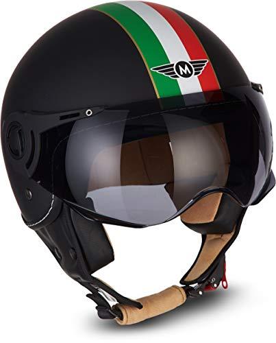MOTO HELMETS H44 Biker Jet-Helm Helmet Retro Scooter-Helm Chopper Vintage Mofa Cruiser...