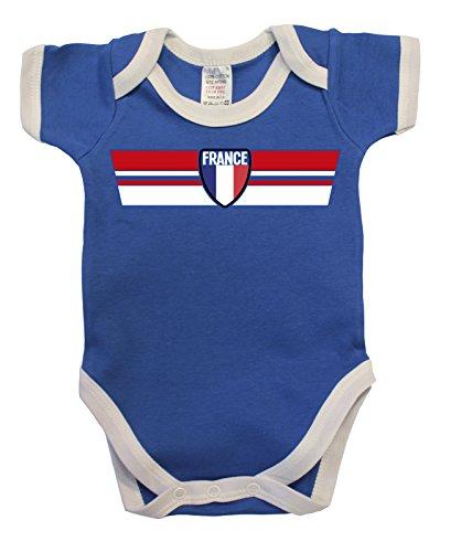 France Frankreich Euro 2016 Retro Strip T-Shirt *Wahl der Herren Damen Kinder Baby Wachsen*